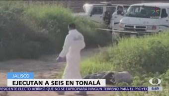 Asesinan a seis personas en Tonalá, Jalisco
