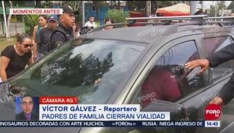 Automovilistas y manifestantes pelean en San Juan de Aragón
