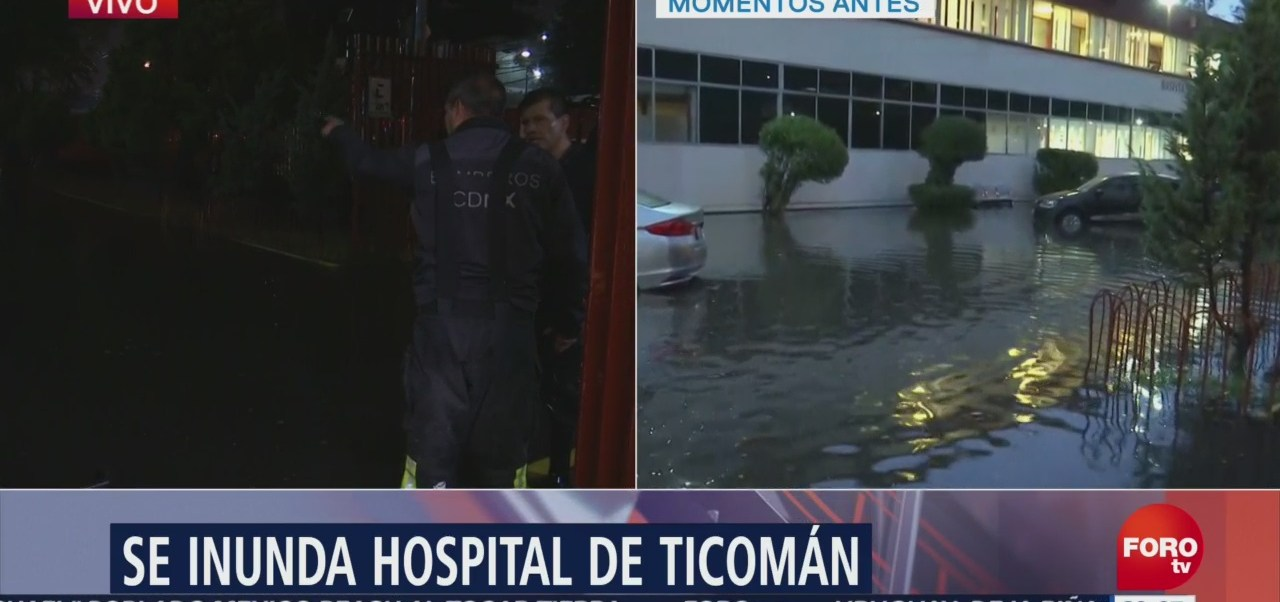 Baja Nivel Inundación Hospital Ticomán CDMX