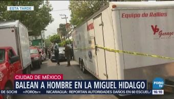 Balean a hombre en la Miguel Hidalgo