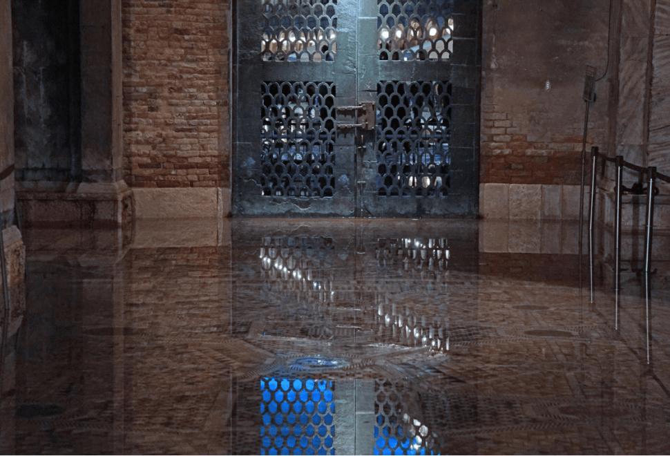 Basílica de San Marcos, inundada en Venecia. (EFE)