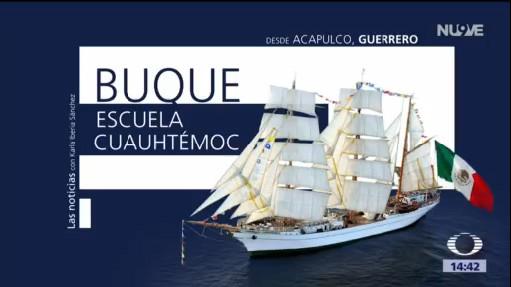 Buque Escuela Cuauhtémoc atraca en Acapulco