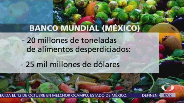 Cada año se desperdician 20 millones de toneladas de alimentos en México