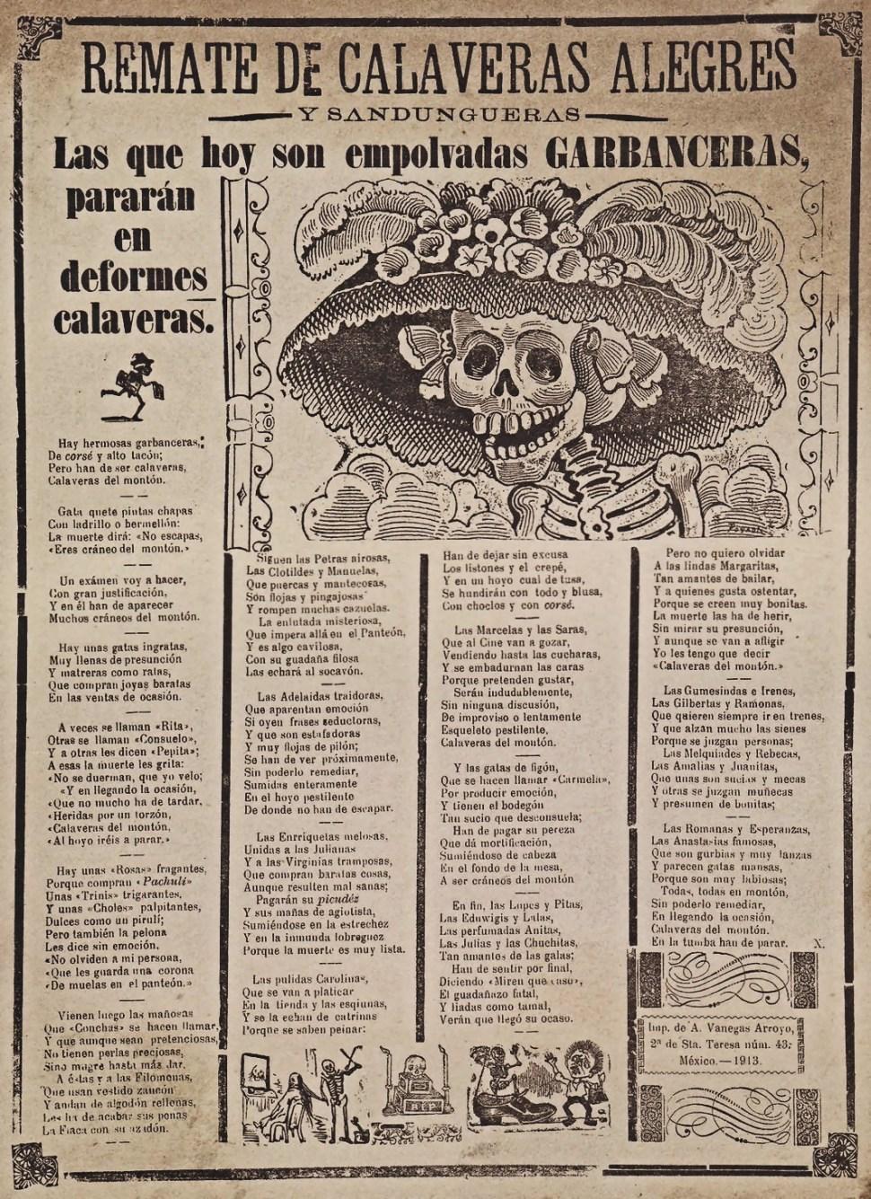 Calavera-garbancera-jose-guadalupe-posada