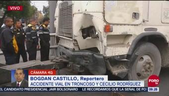 Camión Torton Queda Sin Frenos Impacta Varios Automóviles Cdmx