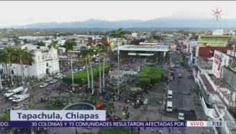 Caravana de migrantes decidirá recorrido hoy desde Tapachula