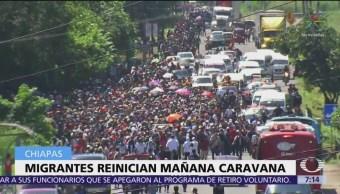 Caravana de migrantes planea recorrer 65 kilómetros este miércoles en México