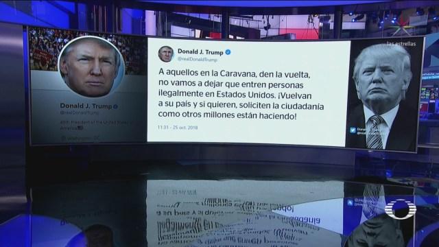 Caravana Migrante Chiapas Trump Advierte Regresen País