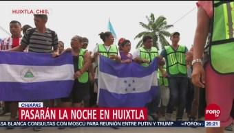 Caravana Migrante Avanza Sur México Frontera
