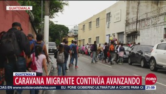 Caravana Migrante Avanza Guatemala Hacia EU