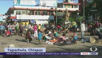 Caravana migrante inicia actividades en Tapachula, Chiapas