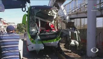 Choque Mexibús Ecatepec Deja Lesionados Accidentes Edomex