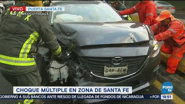 Choque Múltiple En La Zona De Santa Fe