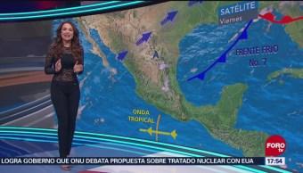 Clima, a las 17:00 horas, con Mayte Carranco del 26 de octubre de 2018
