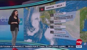 Clima 'A las Tres' con Daniela Álvarez del 22 de octubre de 2018