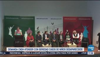 CNDH pide seriedad en atención a desapariciones infantiles