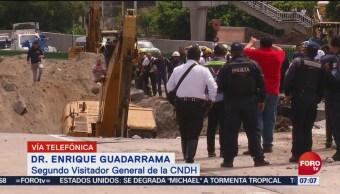 CNDH Socavón de Paso Express no fue accidente