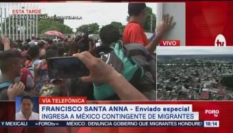 Comienza el ingreso de migrantes hondureños a México