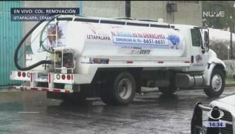 Comienza servicio de pipas de agua en Iztapalapa