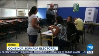 Continúa Jornada Electoral Brasil