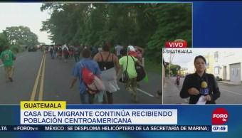 Continúa la llegada de migrantes centroamericanos a Guatemala