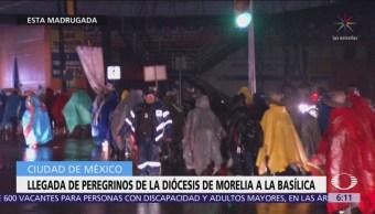 Continúa llegada de peregrinos a la Basílica de Guadalupe