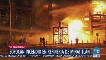 Controlan incendio en refinería de Minatitlán