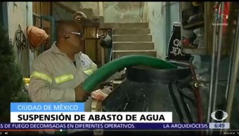 Corte Agua Suministro CDMX Fechas Alcaldías