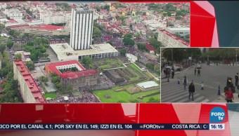 Cortes viales en Reforma, por la marcha del 50 aniversario del movimiento de 1968