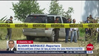 Cuatro muertos por balacera en Texcoco