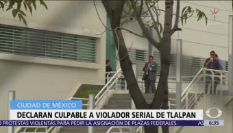 Culpable, violador serial de Tlalpan enfrenta 20 años