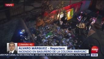Incendio Basurero Colonia Anáhuac Equipos De Bomberos Sofocan Un Incendio Alcaldía Miguel Hidalgo