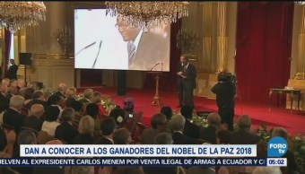 Denis Mukwege y Nadia Murad ganan el Premio Nobel de la Paz