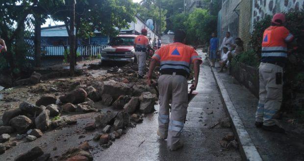 Clima Acapulco hoy; deslave deja cinco viviendas afectadas