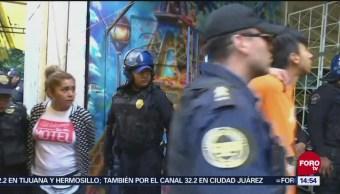 Detienen a cuatro personas durante operativo en Tepito