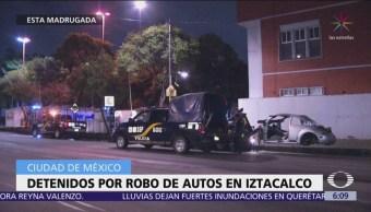 Detienen a cuatro personas por robo de autos en Iztacalco