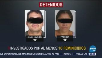 Detienen Feminicidas Edomex Juan Carlos N Patricia N