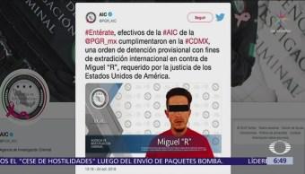 Detienen en CDMX a agresor sexual buscado en Estados Unidos