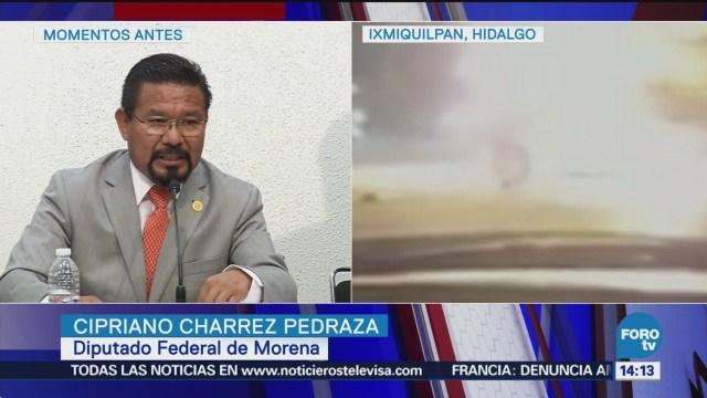 Diputado rechaza acusaciones sobre accidente en Ixmiquilpan