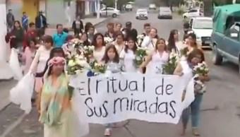 Marchan contra feminicidios en Ecatepec, Estado de México