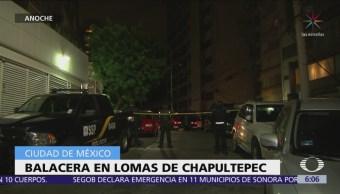Encuentran hombre muerto dentro de camioneta en Lomas de Chapultepec