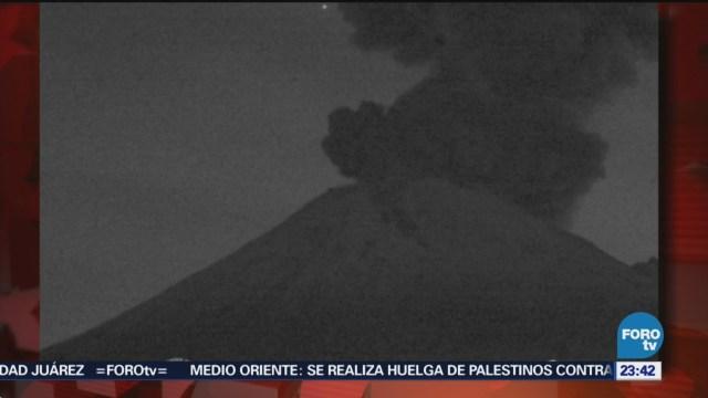 Volcán Popocatépetl Registra Dos Explosiones Lunes