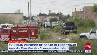 Exhuman 18 cuerpos en fosas clandestinas en Tonalá