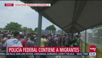 Explican cómo empezó la pelea entre policías federales y caravana migrante