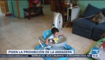Piden prohibir las andaderas de bebé