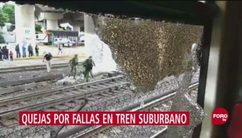 Falla El Servicio Tren Suburbano Usuarios Del Tren Suburbano Redes Sociales Trenes Permanecieron Detenidos Varios Minutos