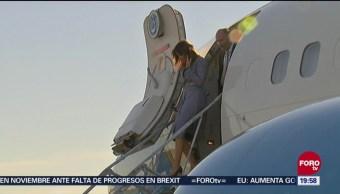 Falla Avión Melania Trump Primera Dama