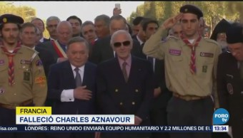 Fallece Charles Aznavour en Francia
