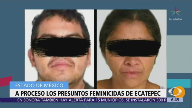 Feminicidas de Ecatepec, vinculados a proceso