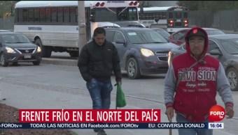Frente frío número 6 afecta el norte de México